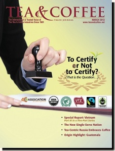 Tea & Coffee Mar 2013: Coffee Certifications Explained p. 22 / Dispatches p. 18 http://tinyurl.com/tctj03-13