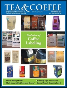 Tea & Coffee: Sep 2014 Nobletree NYC p. 12 Labeling p. 20 Colombia Part 2 p. 64